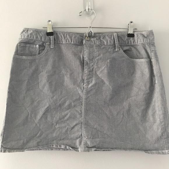 ccb7fd33cc5a GAP Skirts | Pin Striped Short Skirt Plus Size 16 | Poshmark